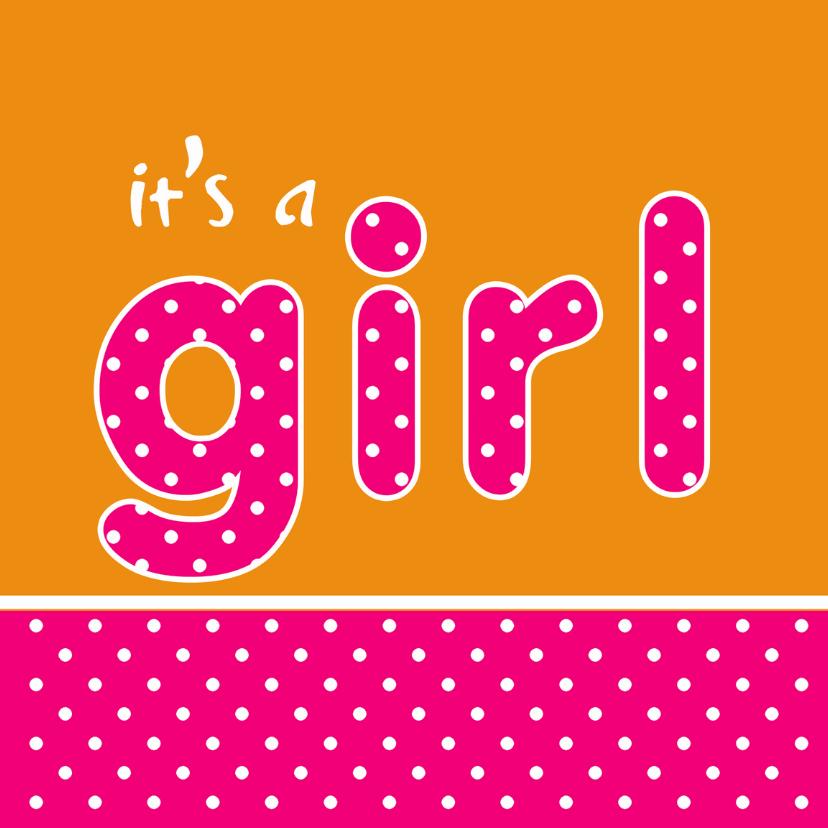 Felicitatiekaarten - Felicitatiekaart Girl