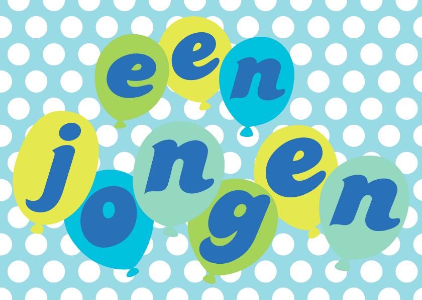 Felicitatiekaarten - Felicitatiekaart Happy Balloons Jongen