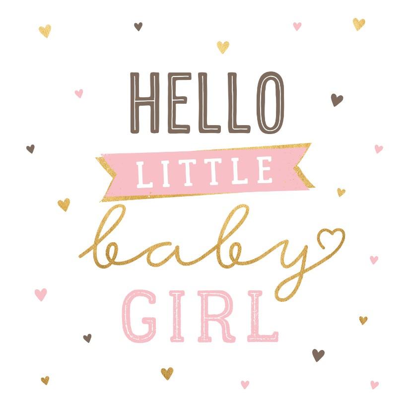 Felicitatiekaarten - Felicitatiekaart hello baby