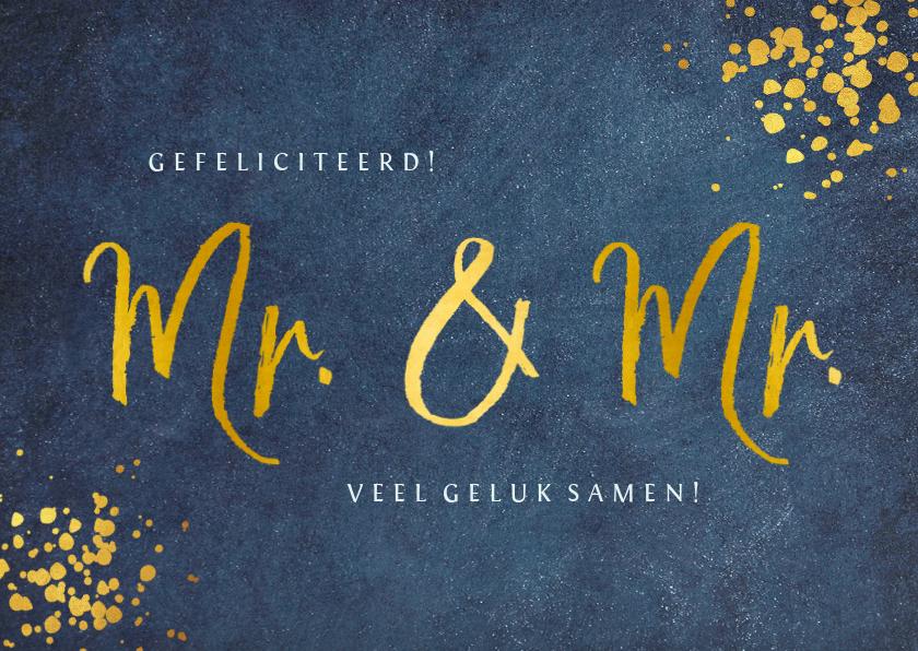 Felicitatiekaarten - Felicitatiekaart huwelijk 2 mannen - Mr & Mr