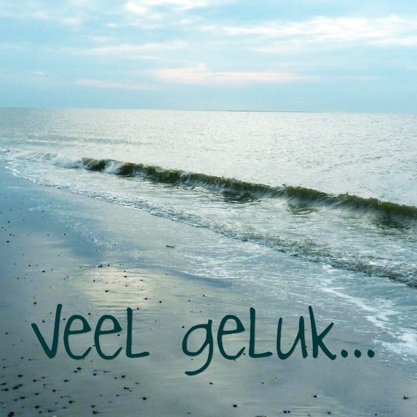 Felicitatiekaarten - Felicitatiekaart huwelijk strand en zee