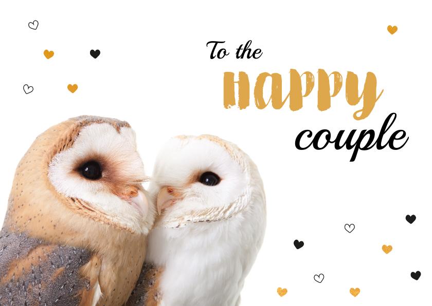 Felicitatiekaarten - Felicitatiekaart - Huwelijk - Torteluiltjes