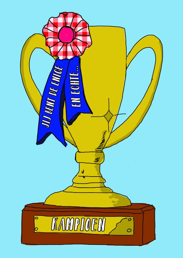 Felicitatiekaarten - Felicitatiekaart kampioen PA