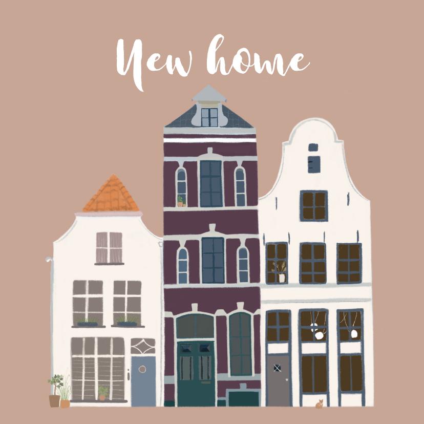 Felicitatiekaarten - Felicitatiekaart karakteristieke huizen