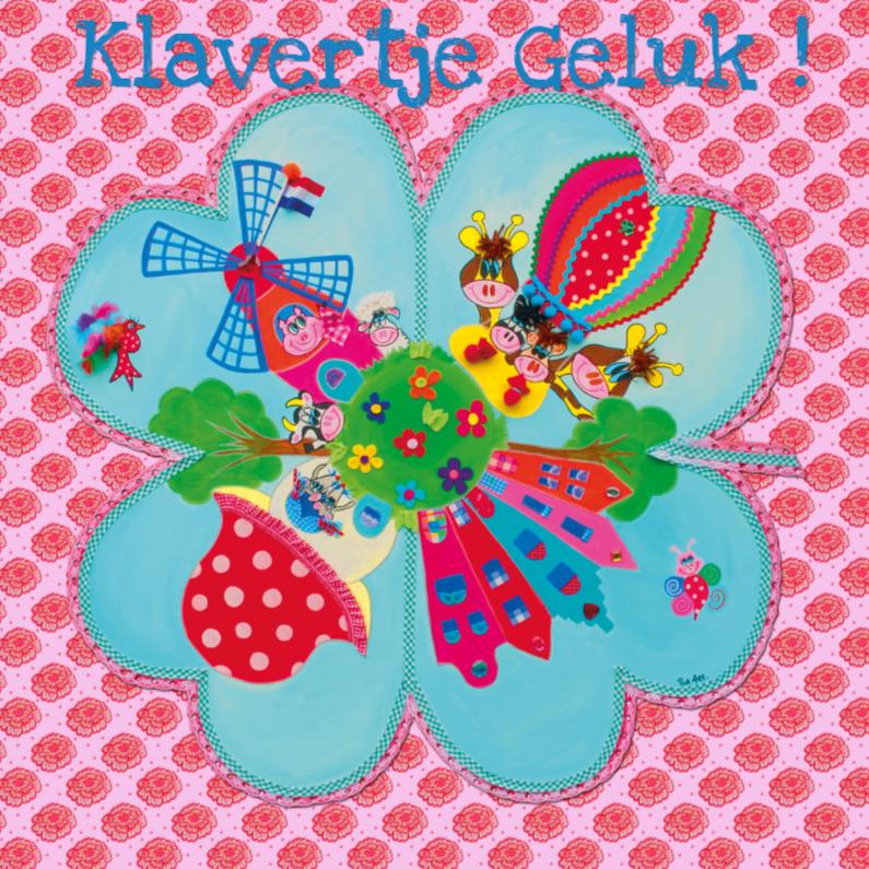 Felicitatiekaarten - Felicitatiekaart Klaver PA