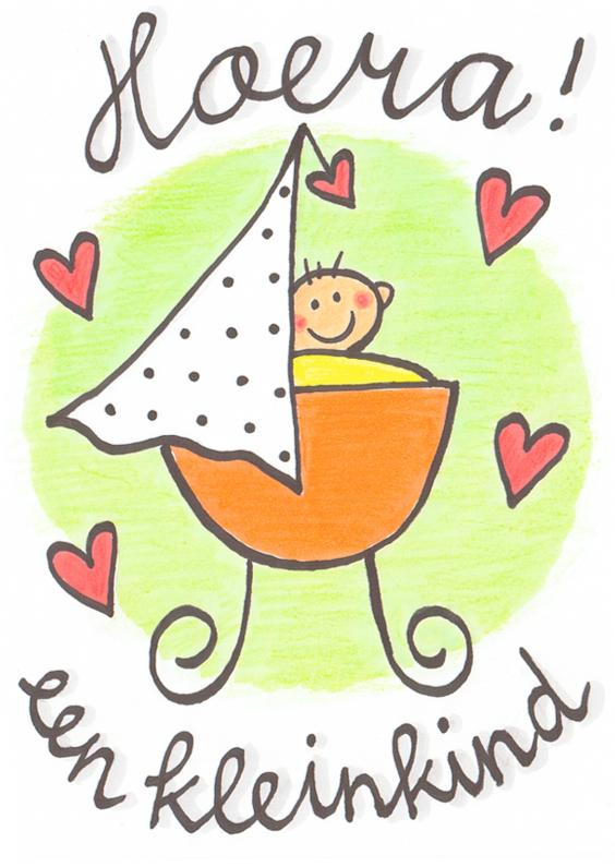 Felicitatiekaarten - Felicitatiekaart, kleinkind wieg