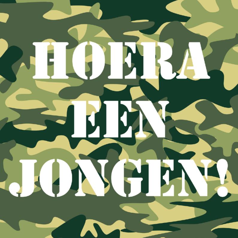 Felicitatiekaarten - Felicitatiekaart Leger groen