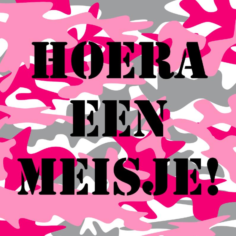 Felicitatiekaarten - Felicitatiekaart leger roze