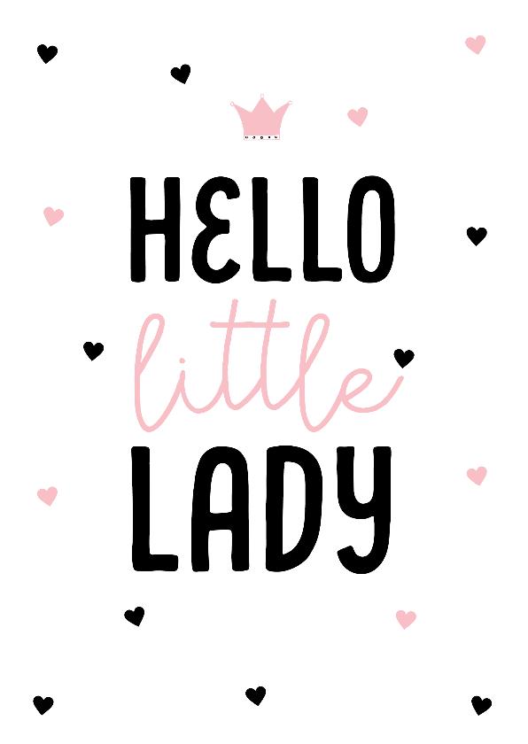 Felicitatiekaarten - Felicitatiekaart little lady