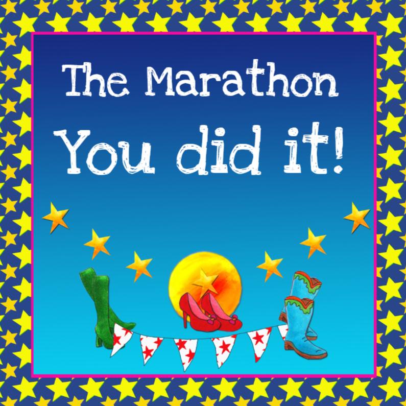Felicitatiekaarten - Felicitatiekaart Marathon PA