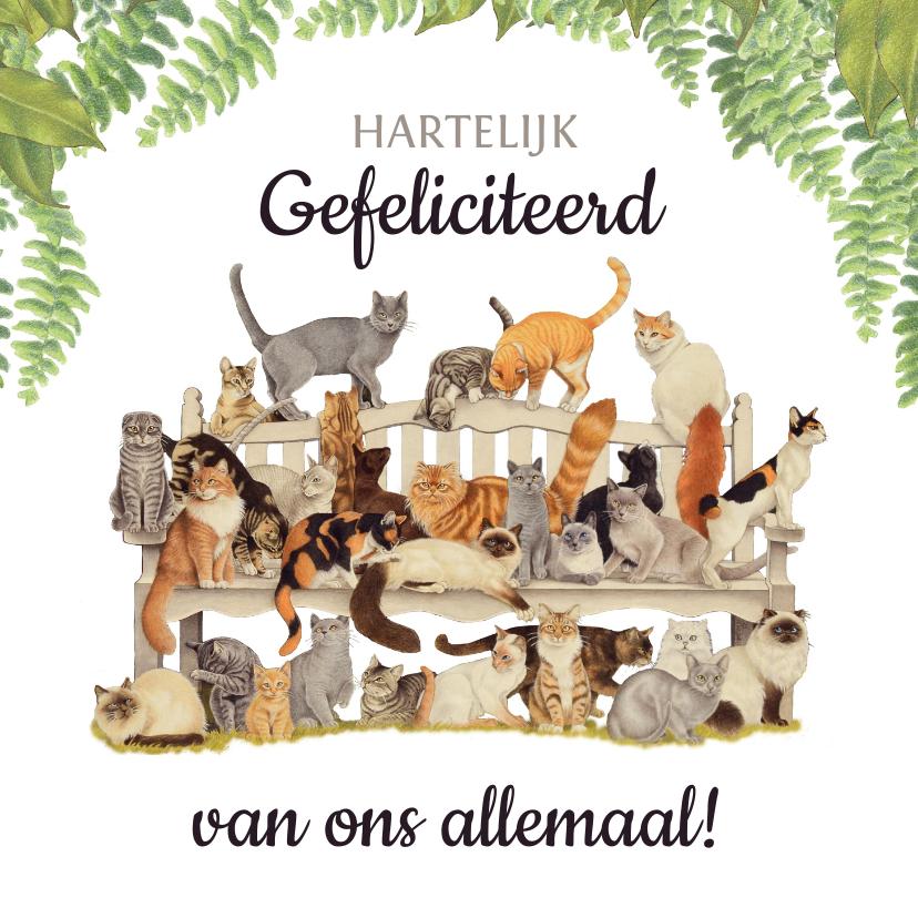 Felicitatiekaarten - Felicitatiekaart met gezellige beestenboel!
