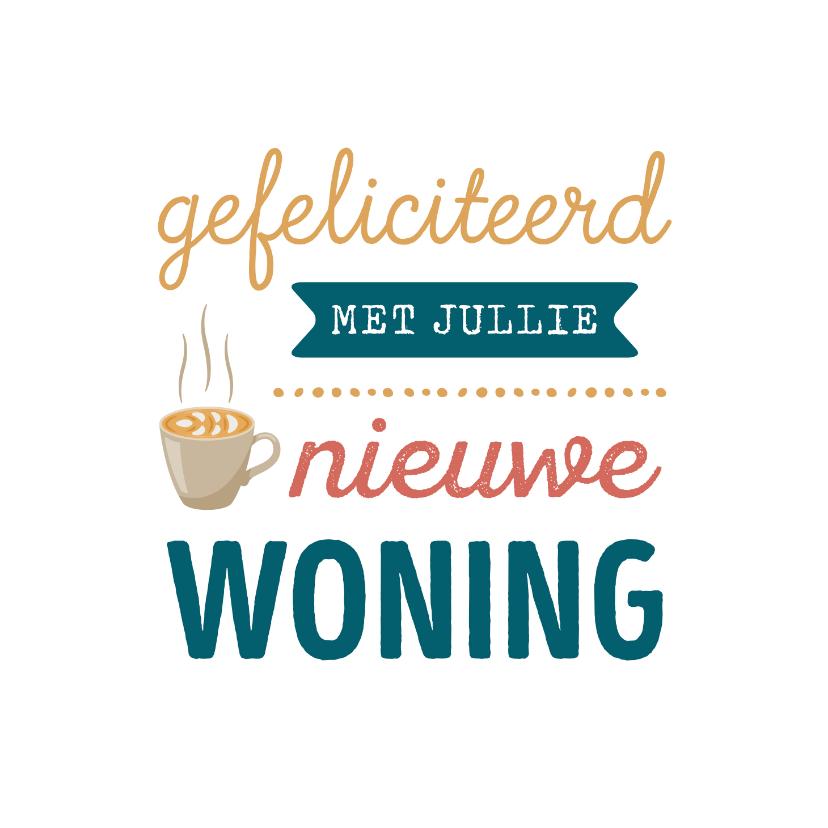 Felicitatiekaarten - Felicitatiekaart met koffie