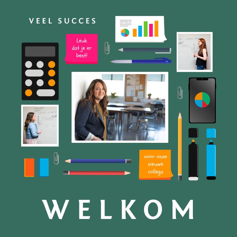 Felicitatiekaarten - Felicitatiekaart nieuwe baan leraar of kantoorbaan