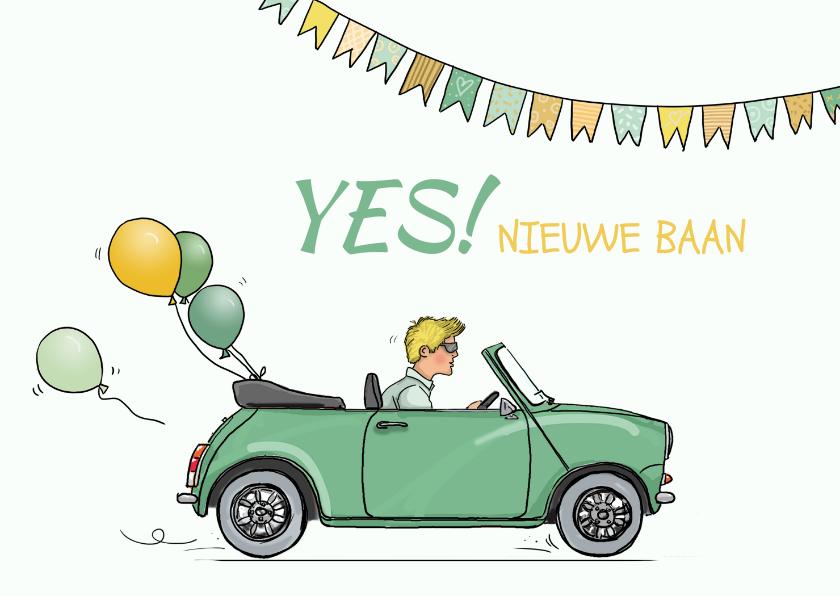 Felicitatiekaarten - Felicitatiekaart nieuwe baan mini ballonnen