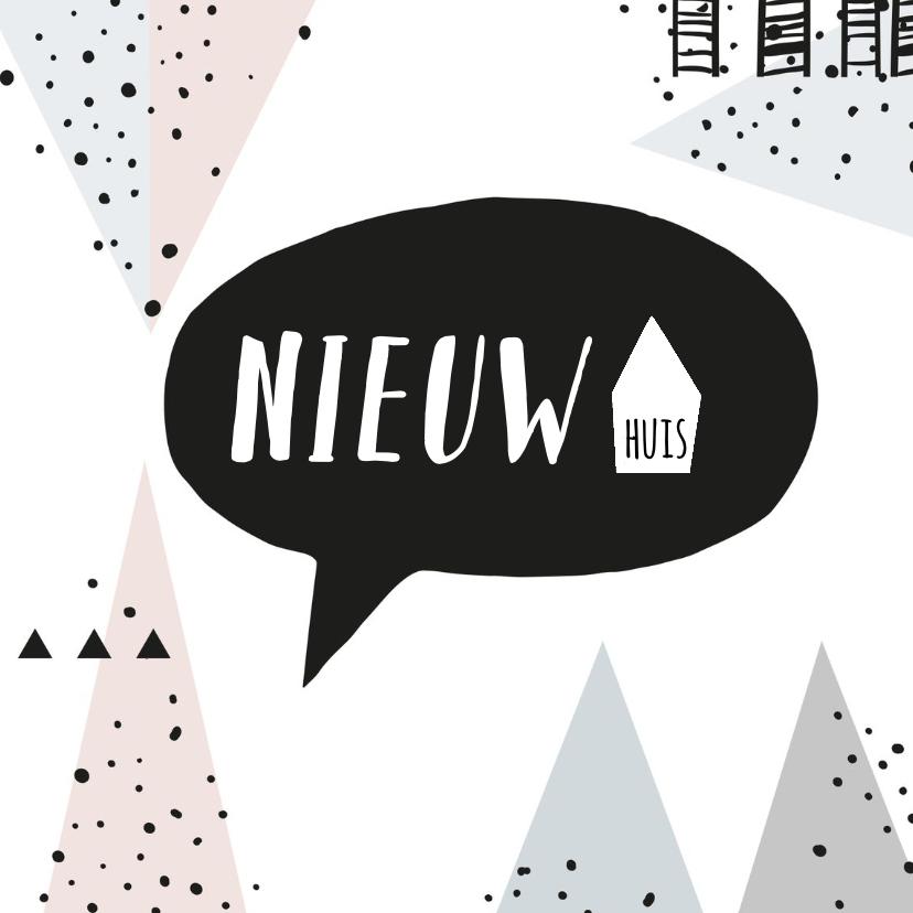 Felicitatiekaarten - Felicitatiekaart nieuwe woning hipperdestip