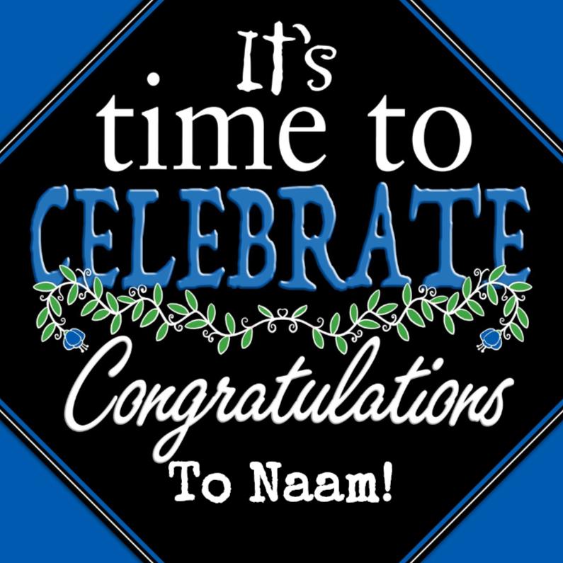 Felicitatiekaarten - Felicitatiekaart op zwart blok