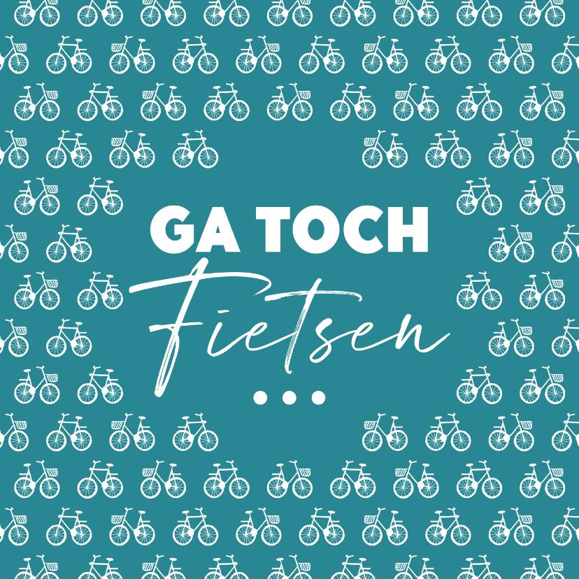 Felicitatiekaarten - Felicitatiekaart pensioen fietsen vrije tijd man vrouw hip