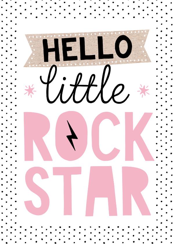 Felicitatiekaarten - Felicitatiekaart rockstar meisje