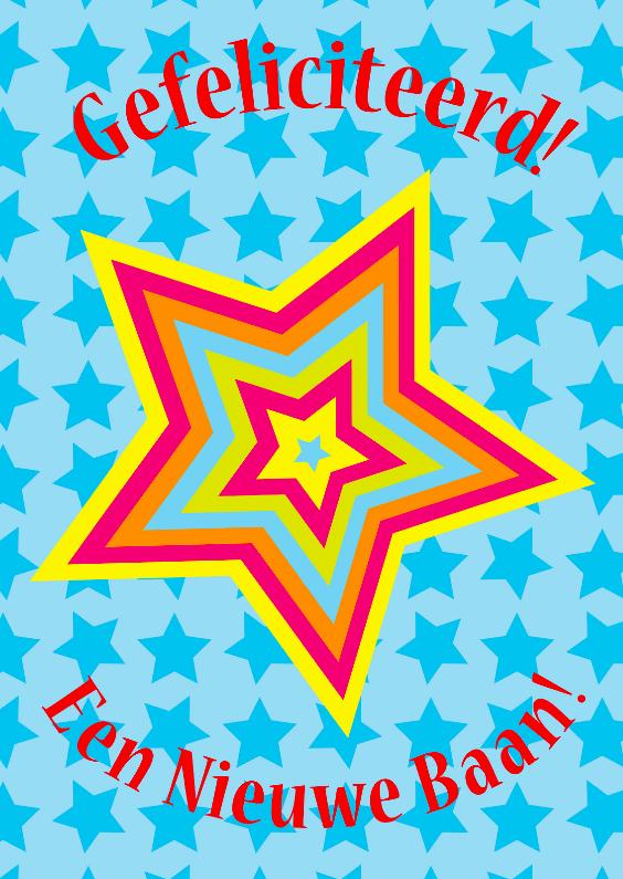 Felicitatiekaarten - felicitatiekaart Sterren blauw