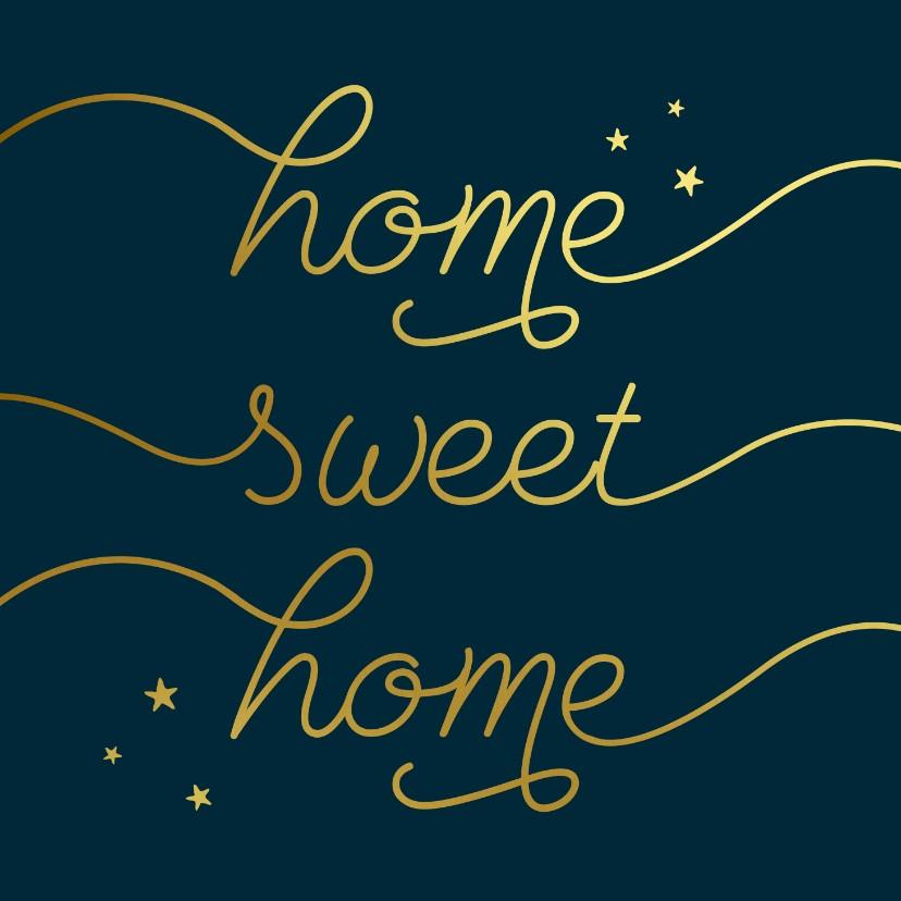 Felicitatiekaarten - Felicitatiekaart sweet home