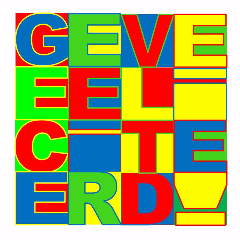 Felicitatiekaarten - Felicitatiekaart Veeel - AW