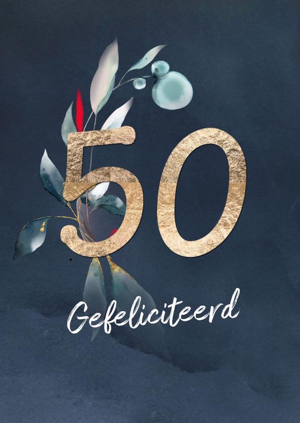 Felicitatiekaarten - Felicitatiekaart voor 50 jaar gouden huwelijk