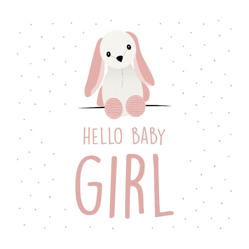 Felicitatiekaarten - Felicitatiekaart voor de geboorte van een meisje
