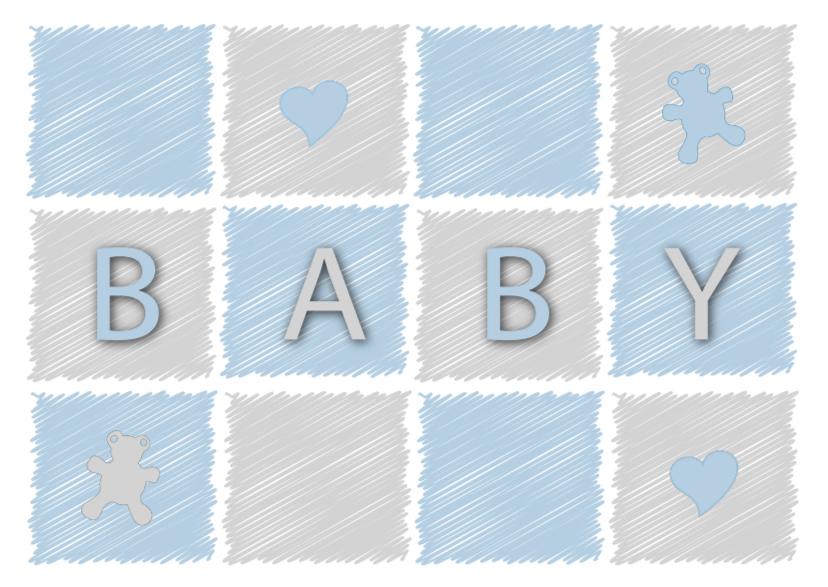 Felicitatiekaarten - felicitatiekaart voor een baby jongen