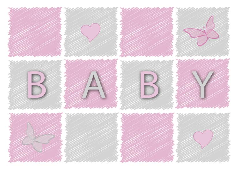 Felicitatiekaarten - Felicitatiekaart voor een baby meisje