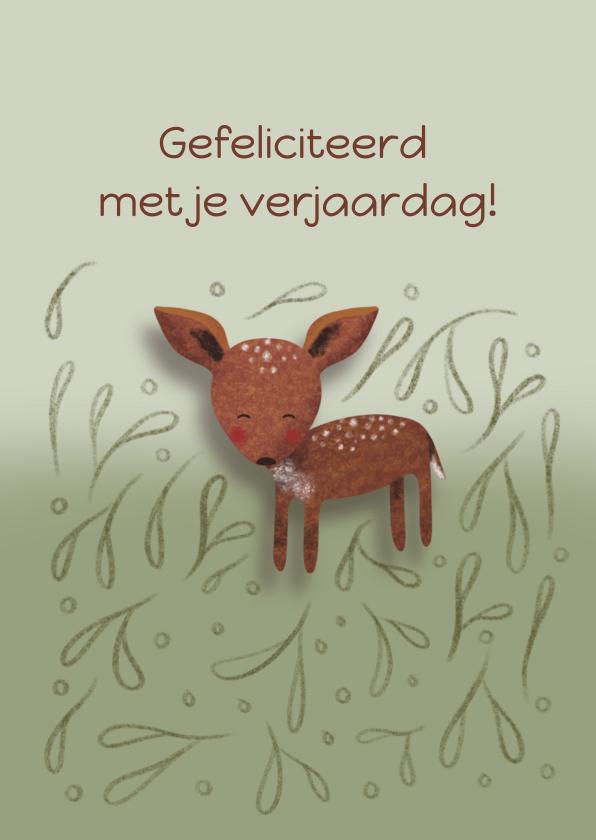 Felicitatiekaarten - Felicitatiekaart voor een kind met een hertje