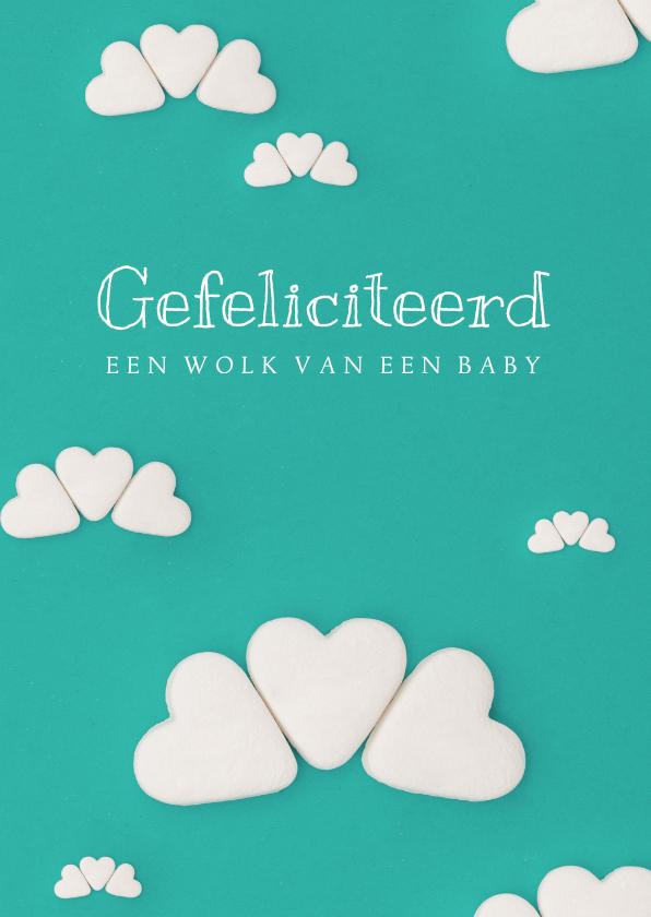 Felicitatiekaarten - Felicitatiekaart voor een wolk van een baby