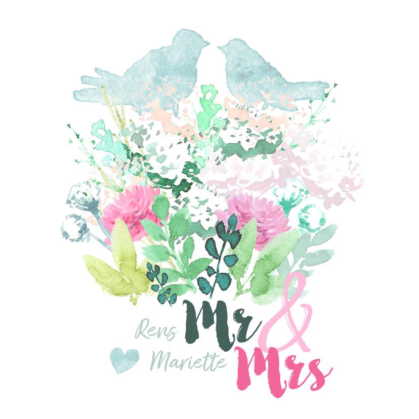 Felicitatiekaarten - Felicitatiekaart voor trouwdag