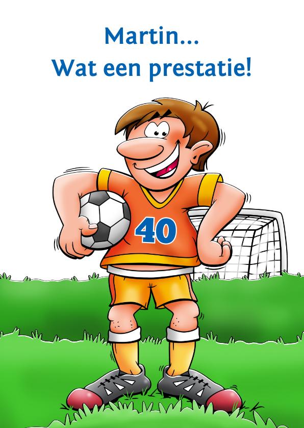 Felicitatiekaarten - Felicitatiekaart voor voetballende man