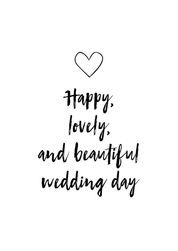 Felicitatiekaarten - Felicitatiekaart - Wedding day!