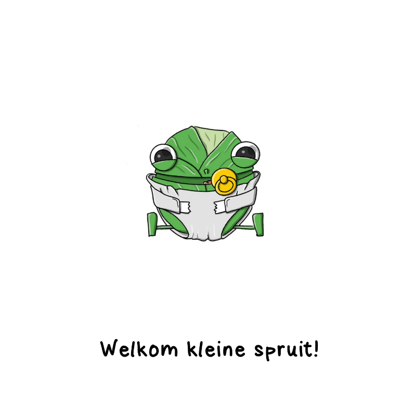 Felicitatiekaarten - Felicitatiekaart Welkom kleine spruit