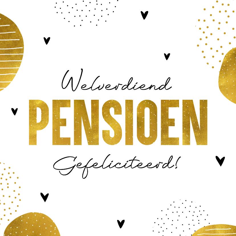 Felicitatiekaarten - Felicitatiekaart welverdiend pensioen
