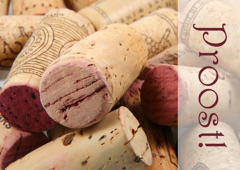 Felicitatiekaart wijnkurken 1