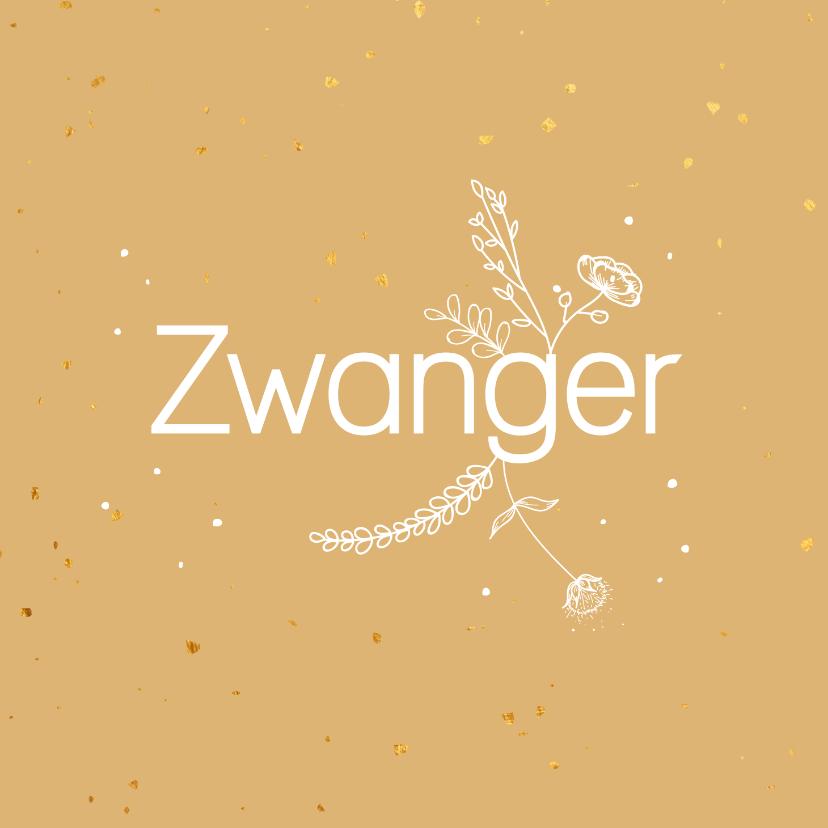Felicitatiekaarten - Felicitatiekaart - Zwanger - flowers