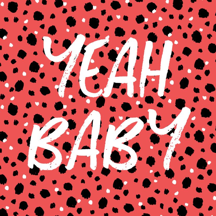 Felicitatiekaarten - Felicitatiekaart zwanger hip patroon confetti