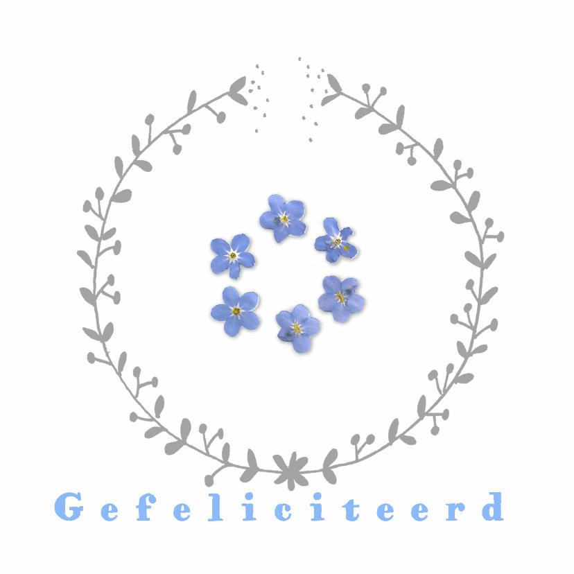 Felicitatiekaarten - Felicitatiekaarten - cirkelbloem