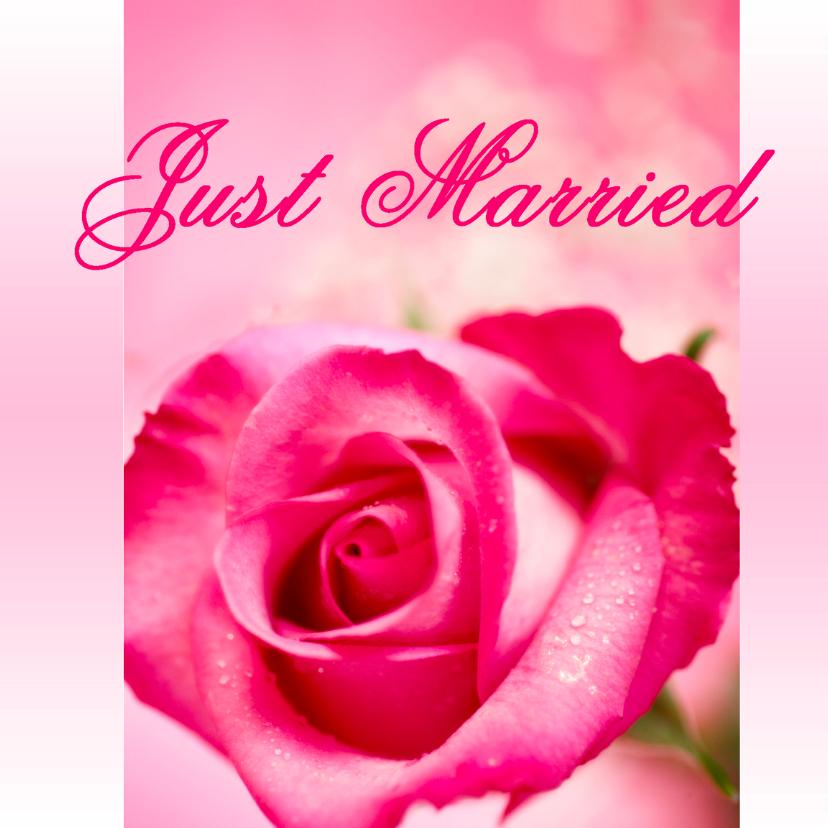 Felicitatiekaarten - Felicitatiekart huwelijk Just Married