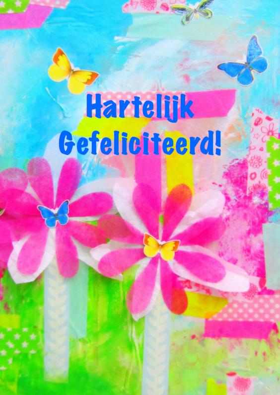 Felicitatiekaarten - Flowers and butterflies