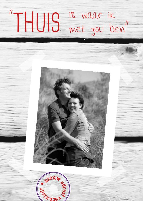 Felicitatiekaarten - Foto romantische regel NL