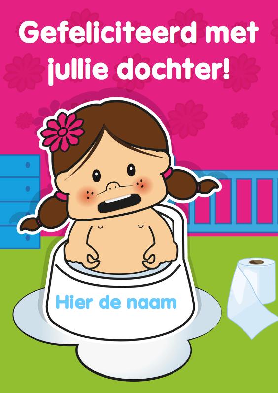 Felicitatiekaarten - Geboorte baby felicitatie meisje 85