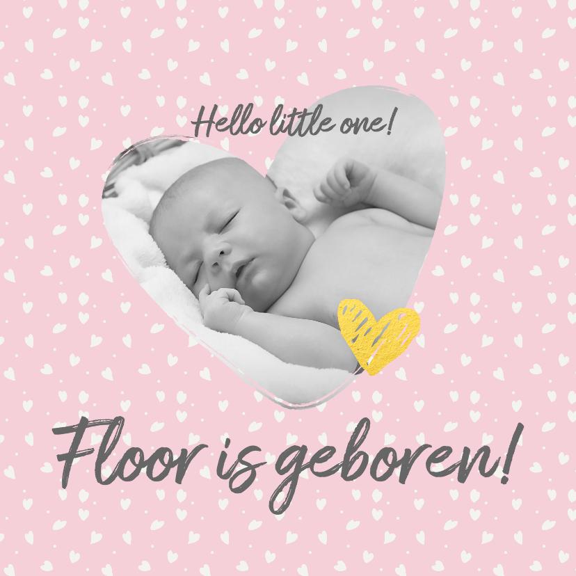 Felicitatiekaarten - Geboorte - felicitatie meisje met foto