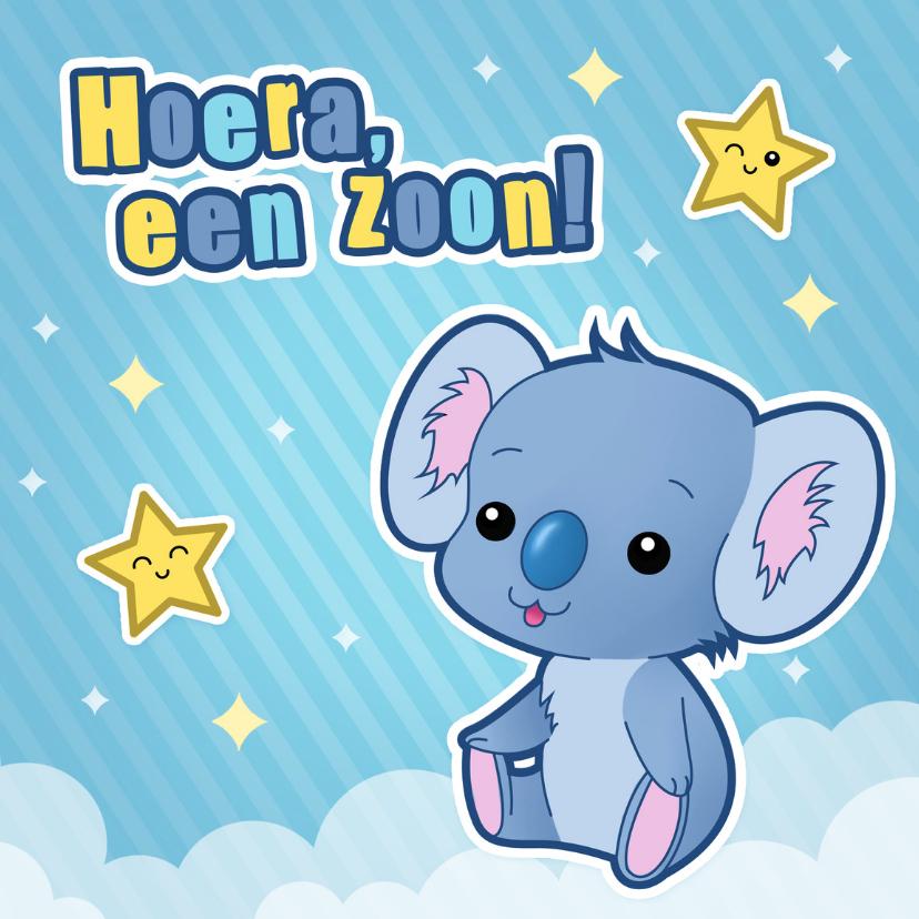 Felicitatiekaarten - Geboorte Jongen Lief Koala Beertje