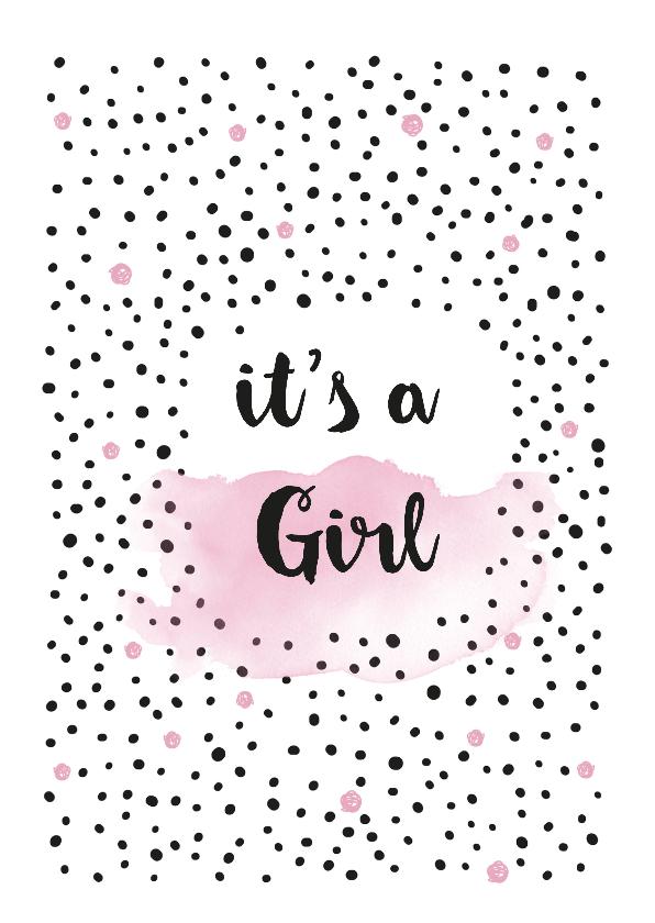 Felicitatiekaarten - Geboorte meisje felicitatiekaart