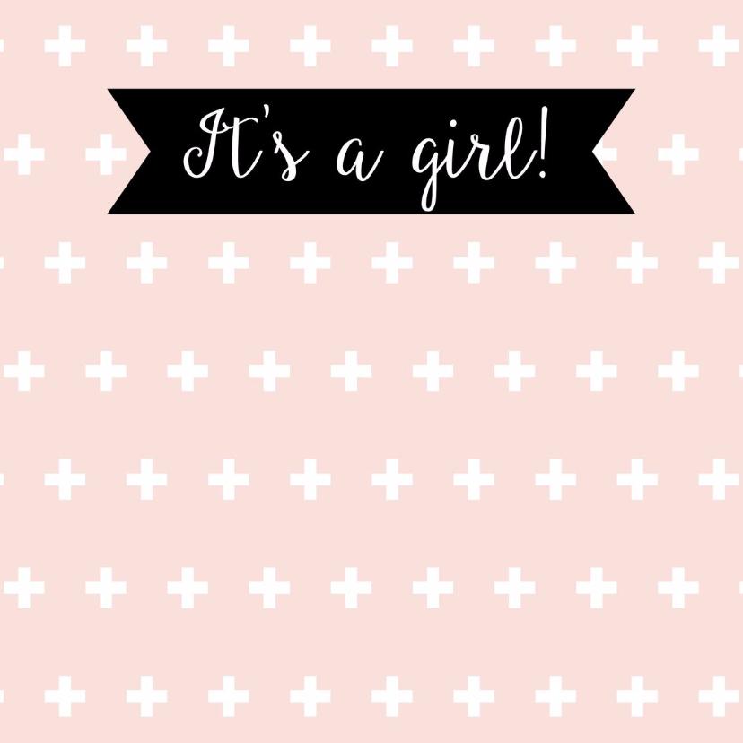 """Felicitatiekaarten - Geboorte meisje """"plusjes"""" - WW"""