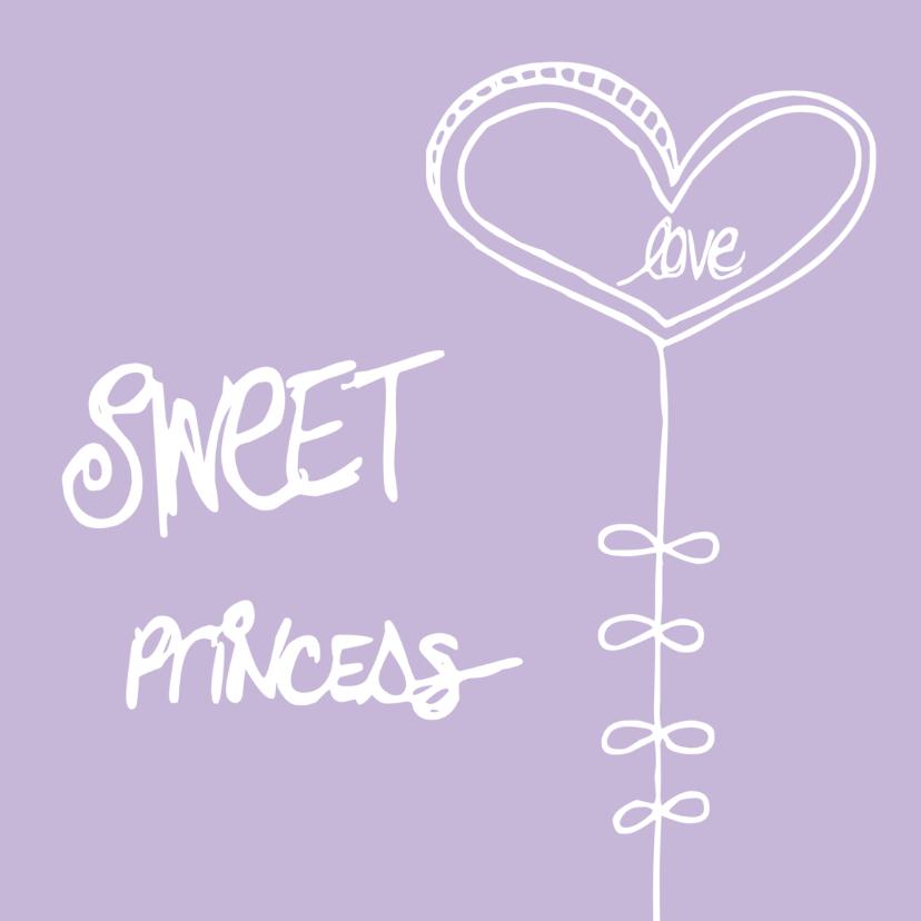 Felicitatiekaarten - Geboorte Sweet Princess!