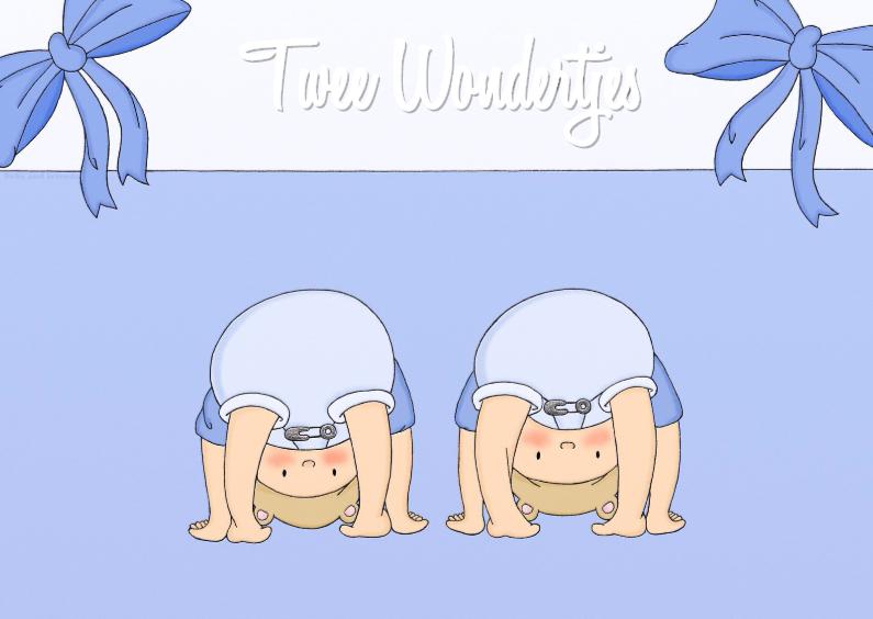 Felicitatiekaarten - Geboorte Twee Wondertjes J - TbJ